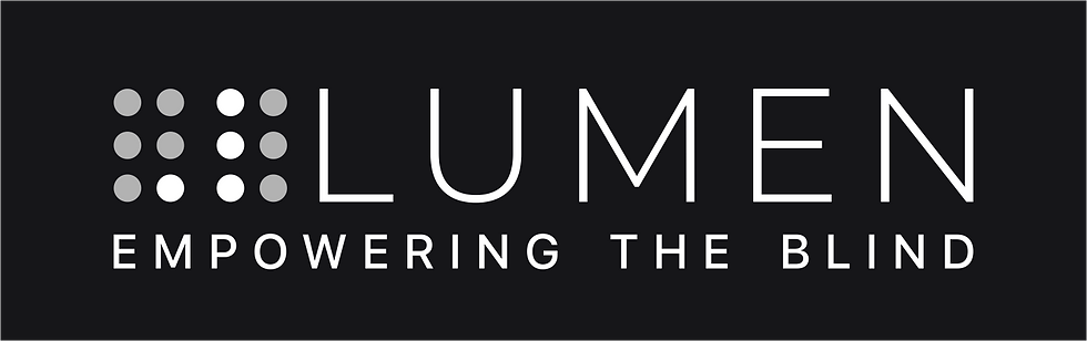 ".lumen logo and tagline ""empoweing the blind"""