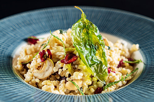 Champagne Risotto w Cranberry, Apple & Cashews