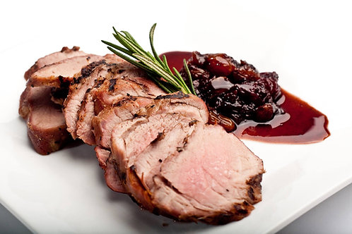 Pork Tenderloin with Black Cherry Chutney