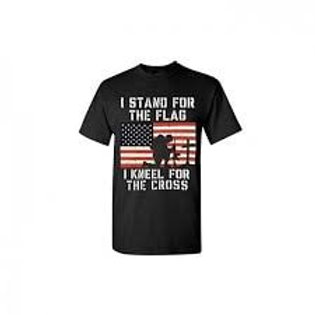 I Stand for the Flag - I Kneel for the Cross T-Shirt
