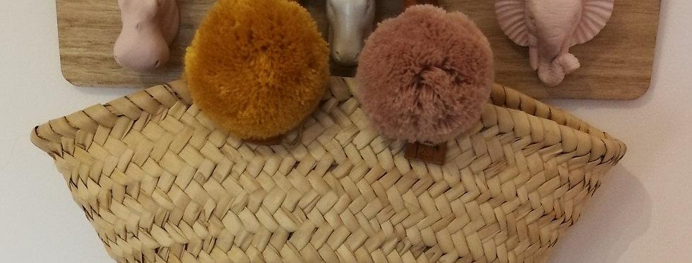 Mini panier anses cuir