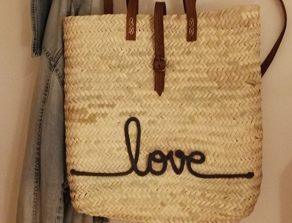 Grand sac à dos à double anses cuir