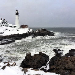 Portland Head Light, Cape Elizabeth, Maine (02/13/17)