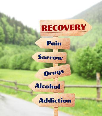 Rehabilitation concept. Wooden signboard