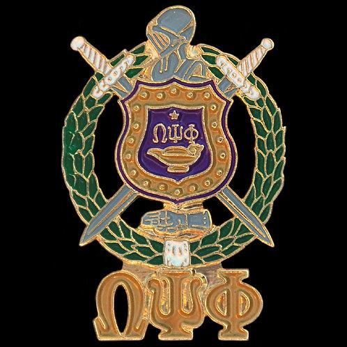 Omega Lapel Pin- Crest