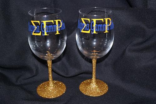 SGRho Glitter Stem Glass