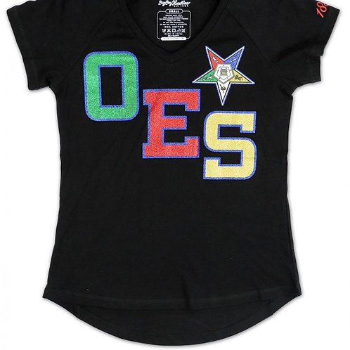 OES Glitter V-Neck Shirt