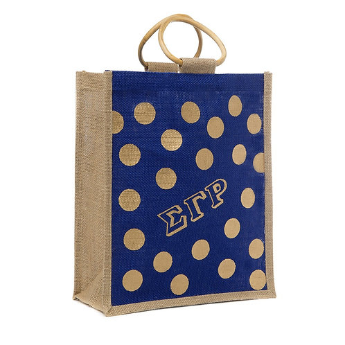 SGRho Polka Dot Jute Bag