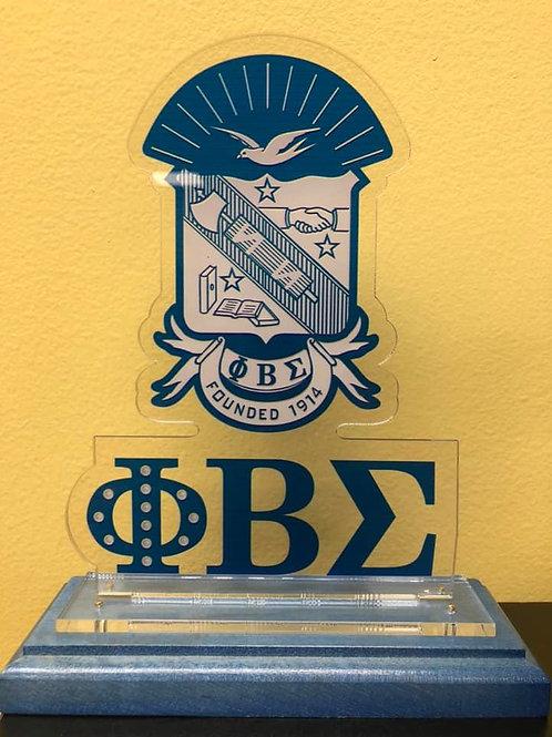 Sigma Wooden Crest Plaque