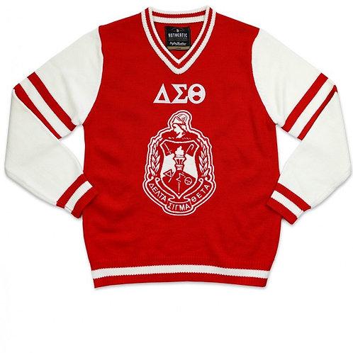 DST V-Neck Chenille Sweater