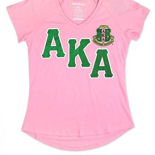 AKA Glitter V-Neck Shirt