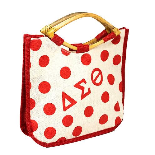 DST Polka Dot Jute Bag