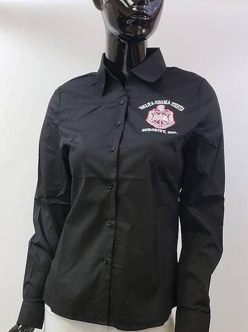 DST Button-Down Long Sleeve Collar Shirt