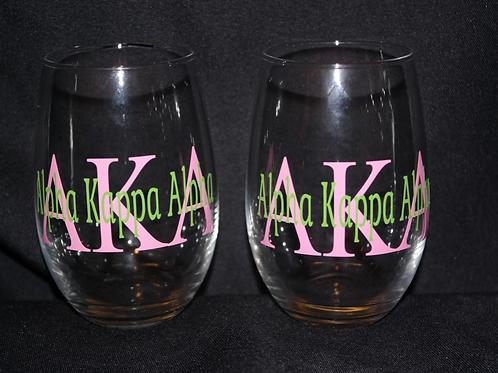 AKA Stemless Glass