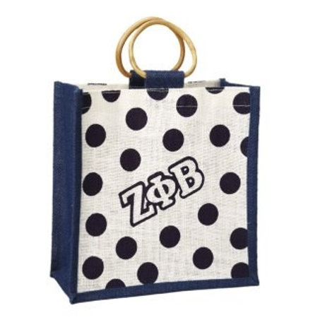 Zeta Polka Dot Jute Bag