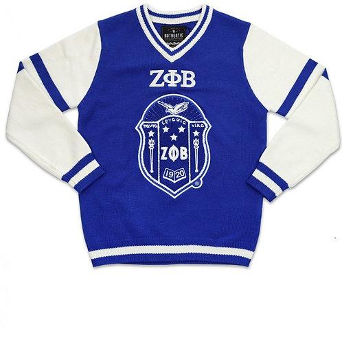 Zeta V-Neck Chenille Sweater