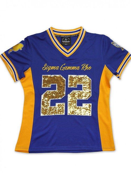 SGRho Sequin Football Jersey