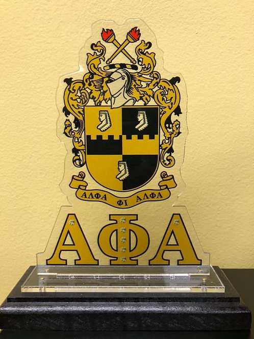 Alpha Wooden Crest Plaque