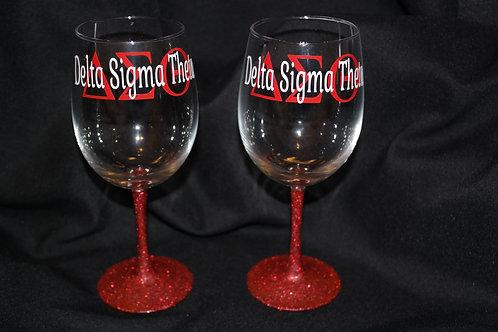 DST Glitter Stem Glass