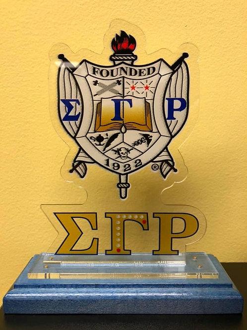 SGRho Wooden Crest Plaque
