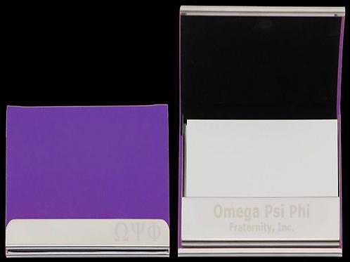 Omega Laser Engraved Business Card Holder