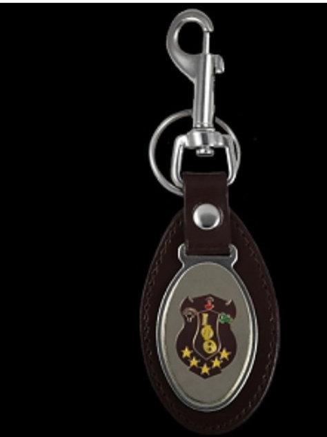 Iota Leather Key Chain Fob