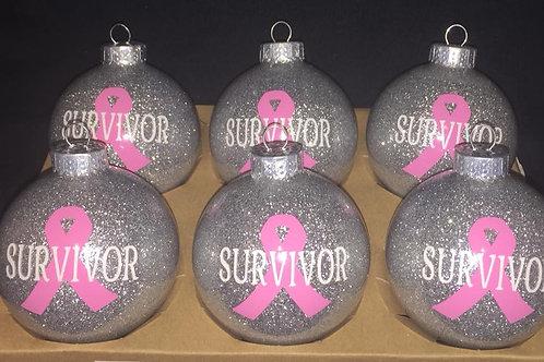Breast Cancer Survivor Ornament