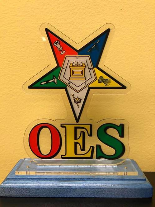 OES Wooden Crest Plaque