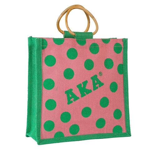 AKA Polka Dot Jute Bag