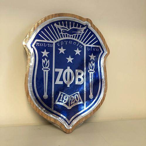 Zeta Dome Wooden Wall Plaque