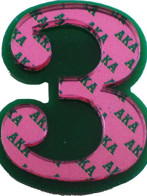AKA Line Number Lapel Pin