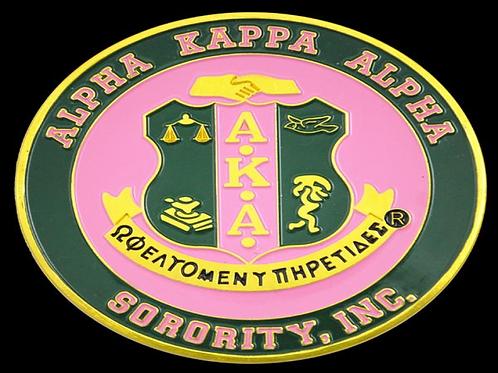AKA Round Stamped Car Emblem