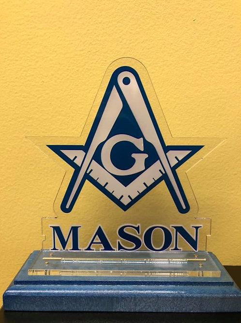 Masonic Wooden Plaque