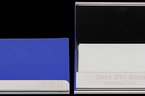 Zeta Laser Engraved Business Card Holder