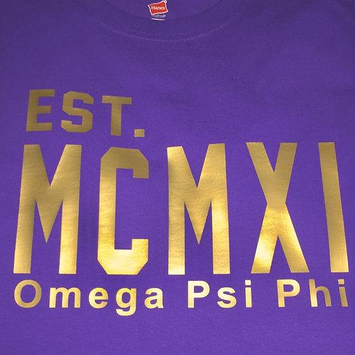 Omega Roman Numeral T-Shirt