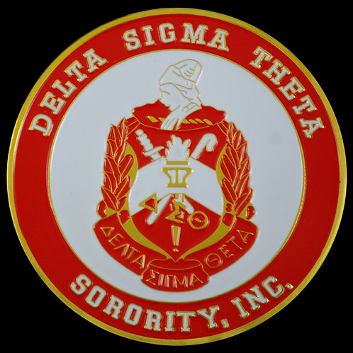 DST Round Stamped Car Decal
