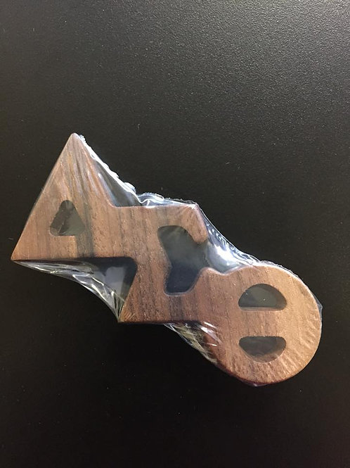DST Wooden Lapel Pin