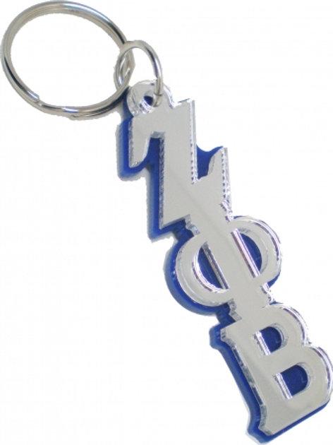 Zeta Mirrored Key Chain