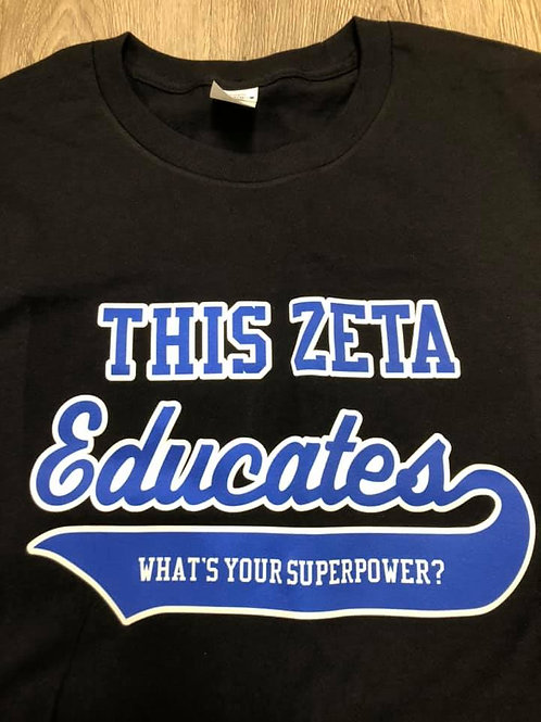 Zeta Educator Shirt