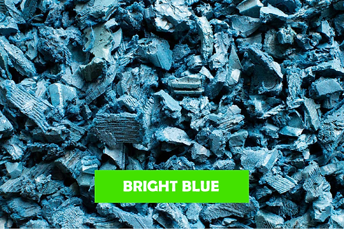 ECO Blue Decorative Rubber Garden Mulch / Play Bark Chip - 500 KG / 25 Sq M