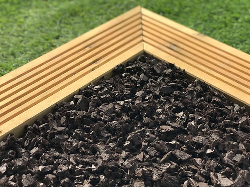 ECO Brown Decorative Rubber Garden Mulch / Play Bark chippings- Mulch 20kg /Bag