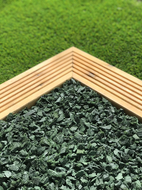 ECO Green Decorative Rubber Garden Mulch / Play Bark chippings- Mulch 20