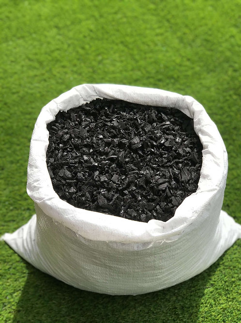ECO Black Decorative Rubber Garden Mulch / Play Bark chippings- Mulch 20