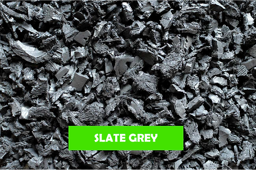 Grey- 500 KG 25 Sq m ECO Rubber Chippings