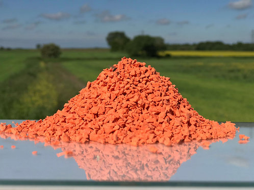Orange EPDM Granules 1-4mm