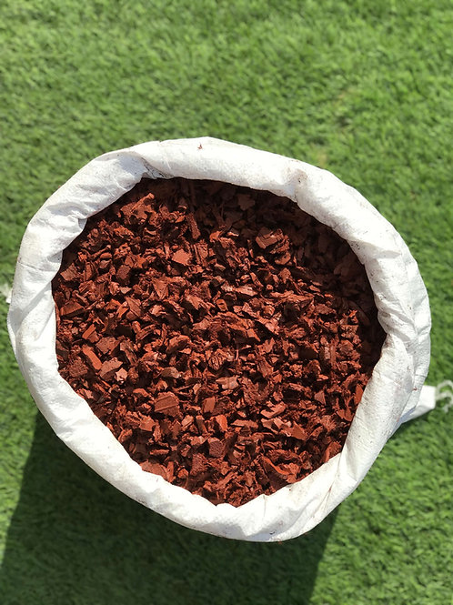 ECO RED Decorative Rubber Garden Mulch / Play Bark chippings- Mulch 20kg /Bag