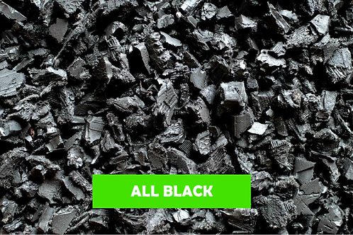 Black - 500 KG 25 Sq m -  ECO Rubber Chippings