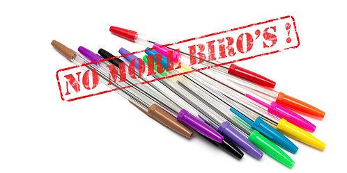 No more Biros pen Posty