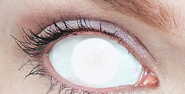 Blind White Blindfold contact lenses USA