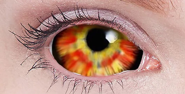 Darth Maul Flare Sclera Contacts
